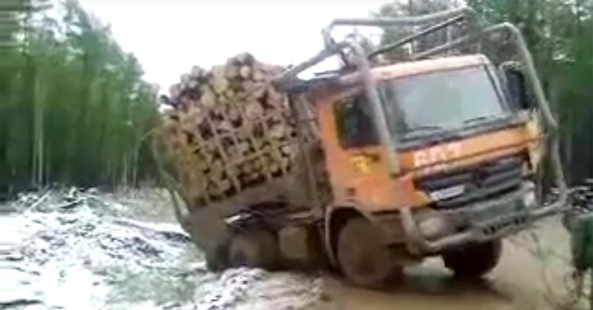 log truck accident