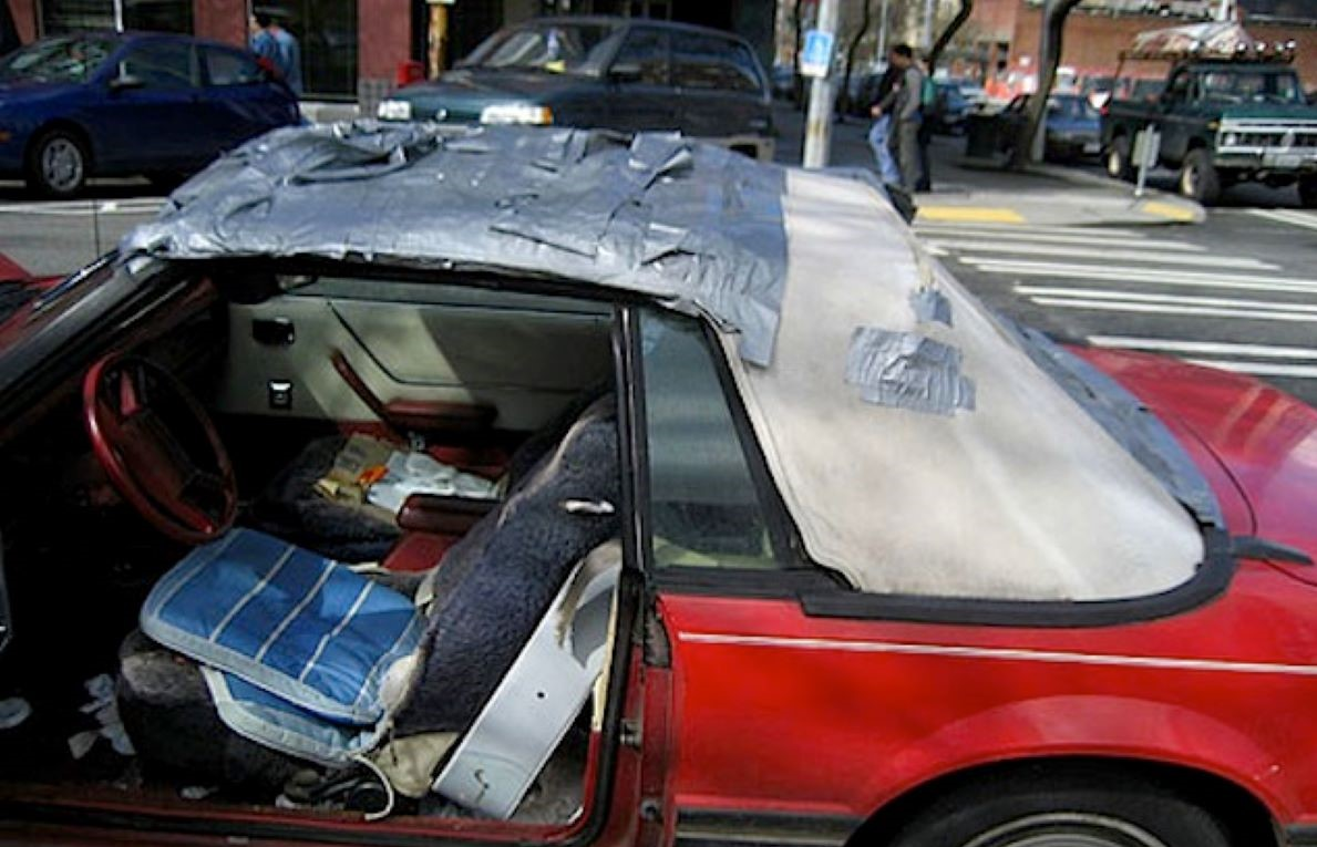 duct tape car
