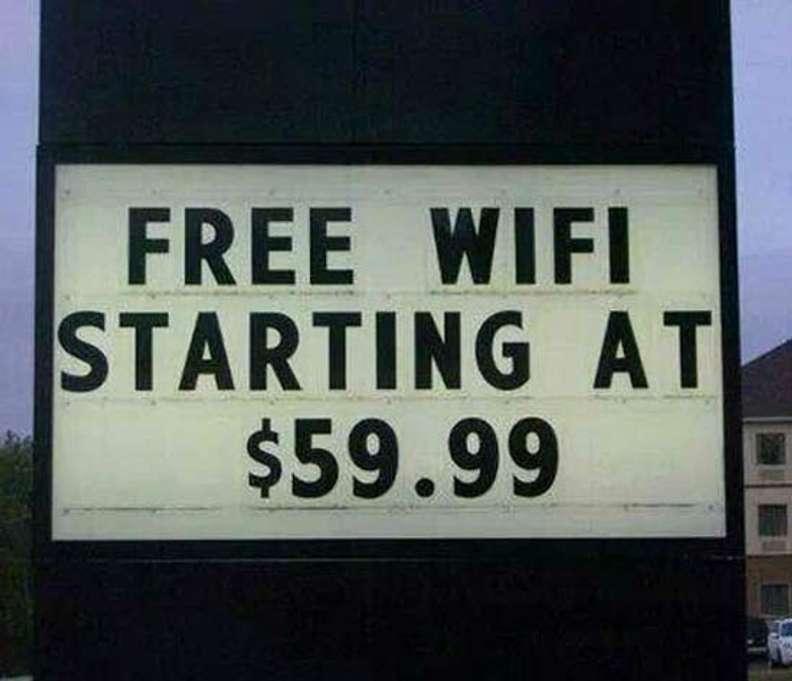 not free wifi