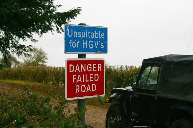 Failed road